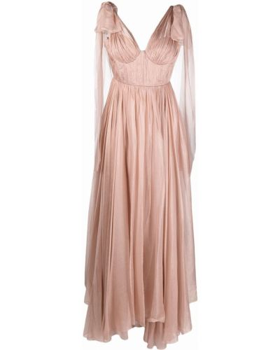 Шелковое вечернее платье - розовое Maria Lucia Hohan