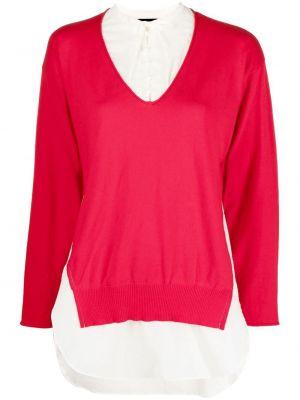 Асимметричная красная блузка на пуговицах Undercover