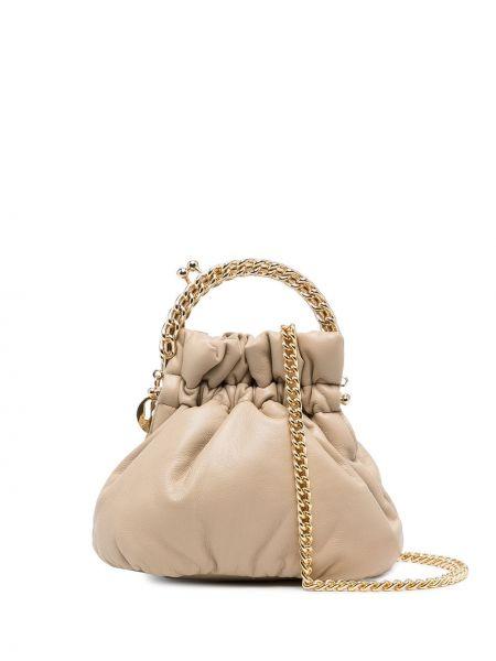 Brązowa torebka na łańcuszku skórzana Rosantica