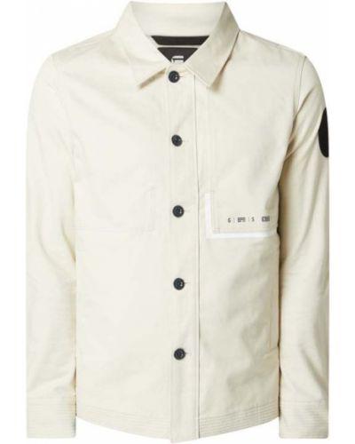 Biała kurtka bawełniana G-star Raw