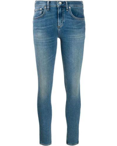 Облегающие зауженные джинсы - синие Rag & Bone/jean