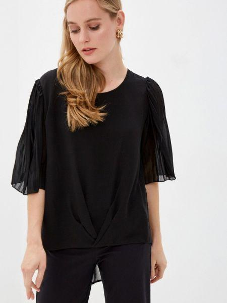 Черная блузка с коротким рукавом Zabaione