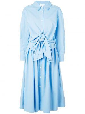 Платье макси длинное - синее Rosie Assoulin