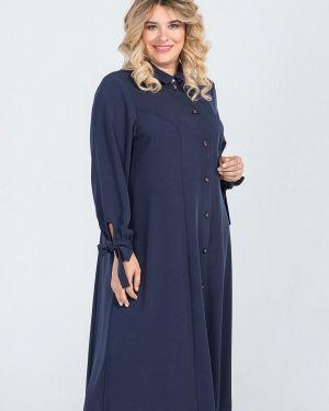 Платье платье-рубашка осеннее Luxury Plus
