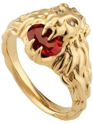 Pierścień ze złota z diamentem Gucci