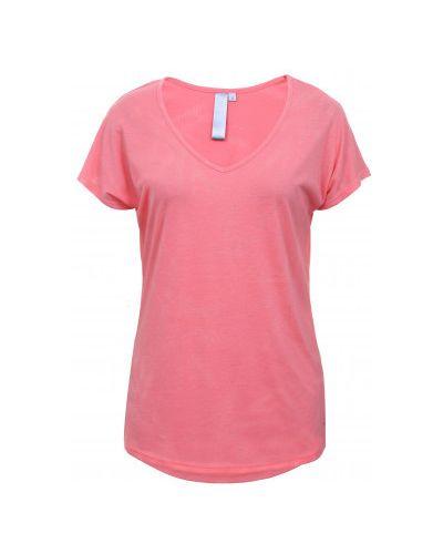 Хлопковая розовая футболка с короткими рукавами Luhta