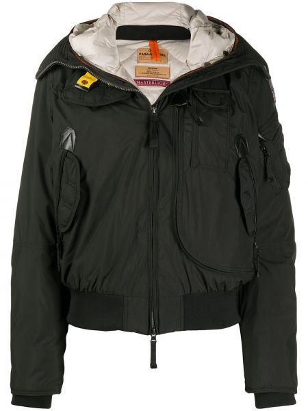 Пуховая классическая черная куртка с капюшоном с манжетами Parajumpers