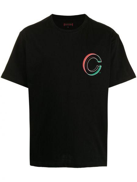 Czarna t-shirt bawełniana krótki rękaw Clot