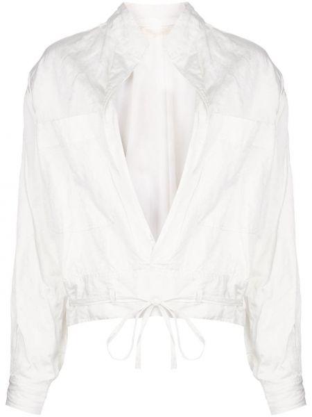 Белая свободная куртка свободного кроя из вискозы Jason Wu Collection