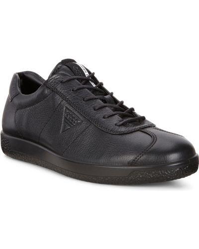 Кеды черные кожаный Ecco