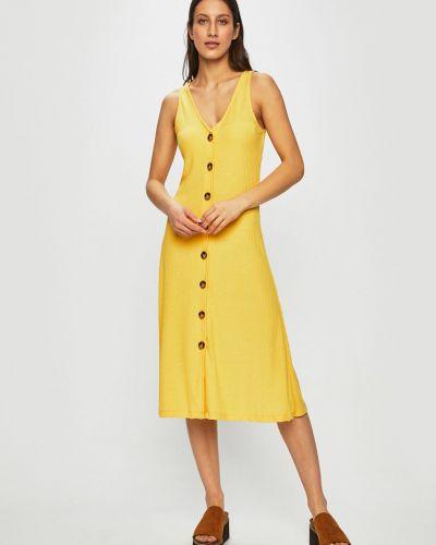 Платье миди из вискозы однотонное Only