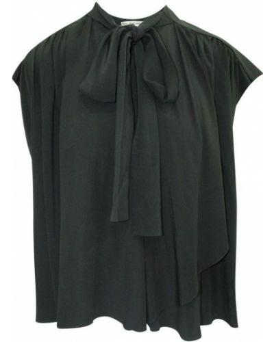 Czarna bluzka vintage Balenciaga Vintage