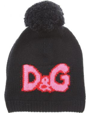 Czarna czapka wełniana Dolce And Gabbana