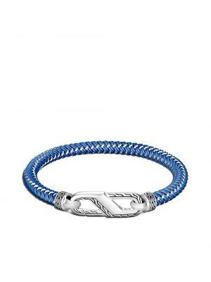 Klasyczna niebieska bransoletka łańcuch srebrna John Hardy