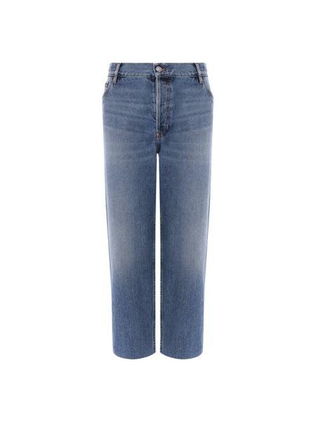 Укороченные джинсы винтажные синие Balenciaga