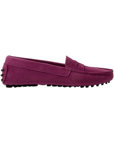 Fioletowe loafers Scarosso