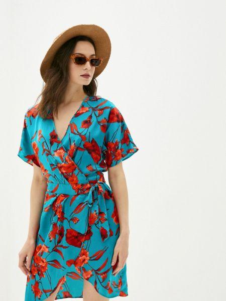 Пляжное платье бирюзовый весеннее Deseo