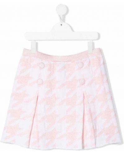 Biała spódnica wełniana Simonetta