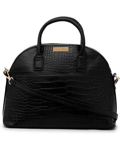 Черная кожаная сумка с ручками на молнии Carvela