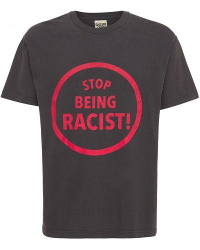 Czarna t-shirt bawełniana Gallery Dept.