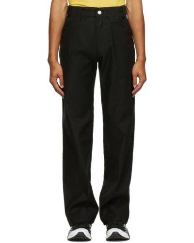 Прямые парусиновые черные прямые брюки с поясом Affix