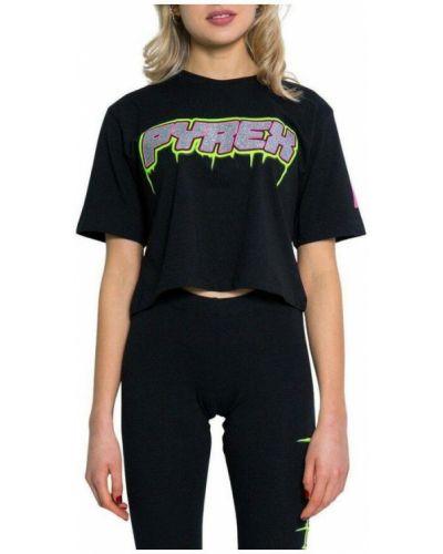 Czarna t-shirt Pyrex