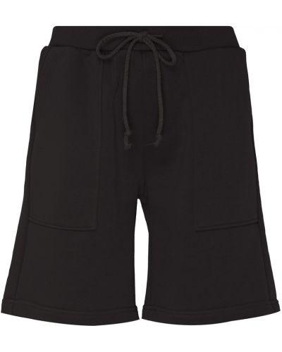 Хлопковые черные шорты с карманами Artem Krivda