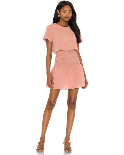 Ватное хлопковое розовое платье-рубашка Nation Ltd