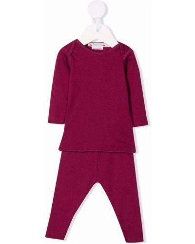 Fioletowy dres bawełniany Bonpoint