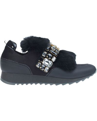 Черные кроссовки с мехом Loriblu