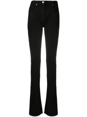 Черные джинсы на молнии с разрезом Blumarine