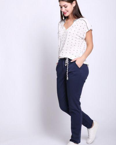 Синие брюки хлопковые Tom Tailor