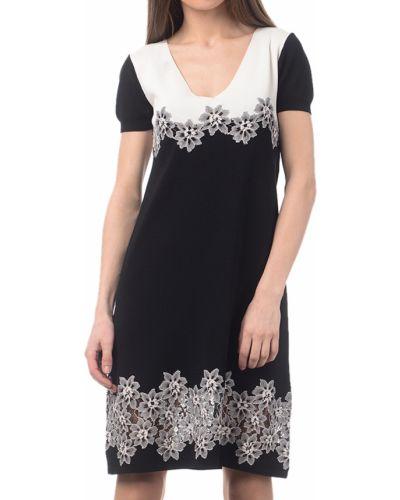 Платье из вискозы - черное Twin-set