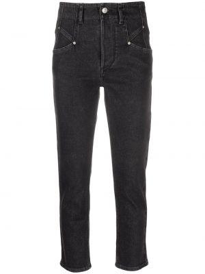 Mom jeans bawełniane - czarne Isabel Marant