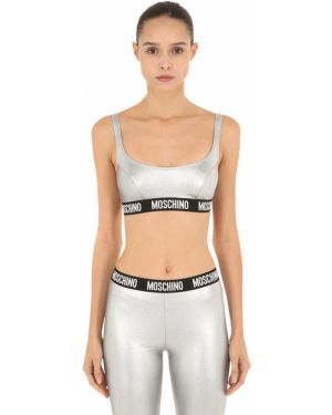 Bralet srebrny Moschino Underwear