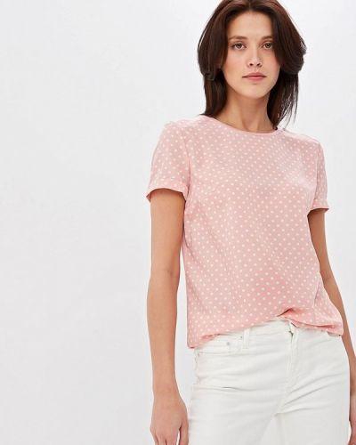 Блузка с коротким рукавом розовый весенний Zarina