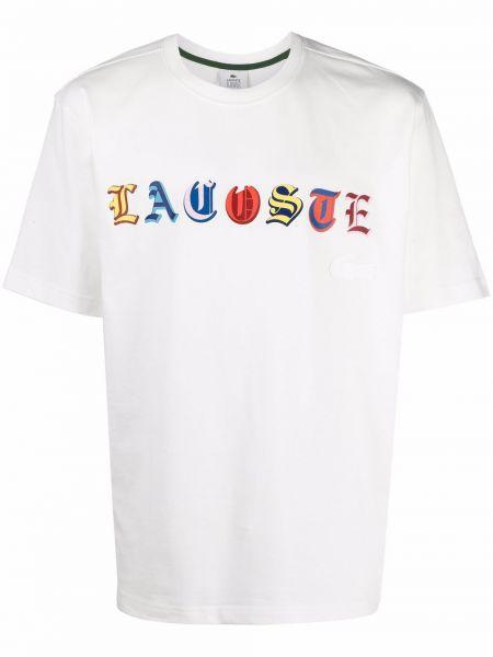 Biała koszulka krótki rękaw Lacoste Live