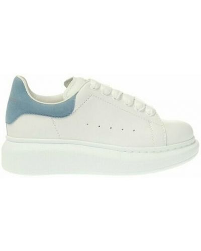 Buty sportowe skorzane - białe Alexander Mcqueen