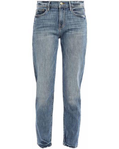 Текстильные синие джинсы бойфренды с поясом Frame