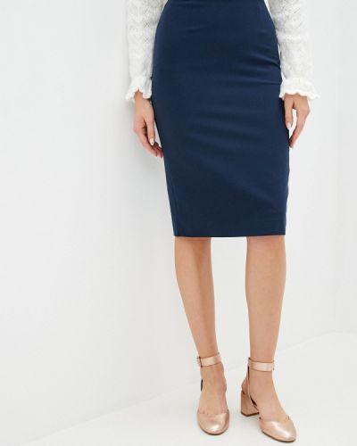 Синяя прямая юбка карандаш Samos Fashion Group
