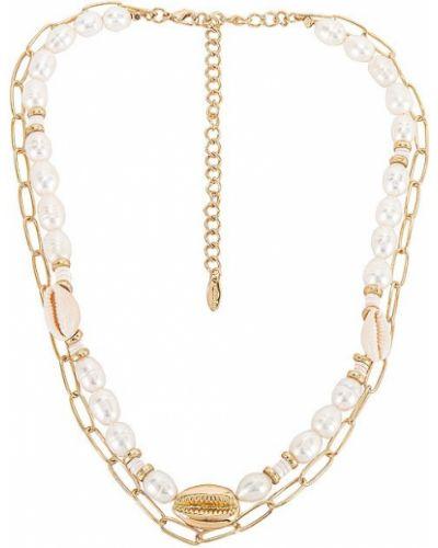 Złoty naszyjnik z pereł casual Ettika