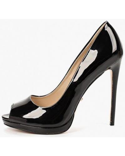 Кожаные туфли лаковые с открытым носком Lino Marano
