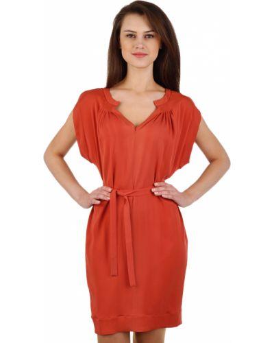 Шелковое платье - красное Agnona