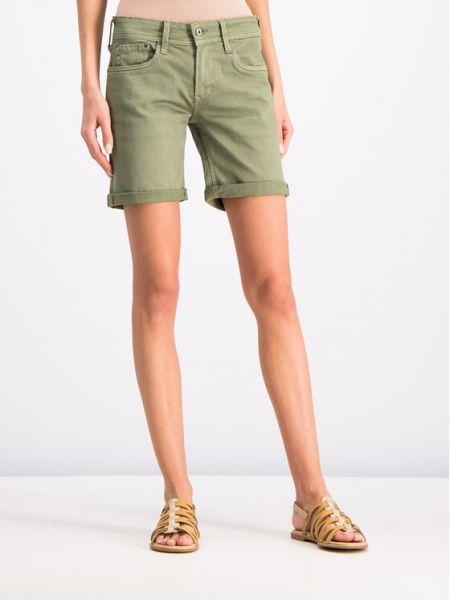 Szorty jeansowe - zielone Pepe Jeans