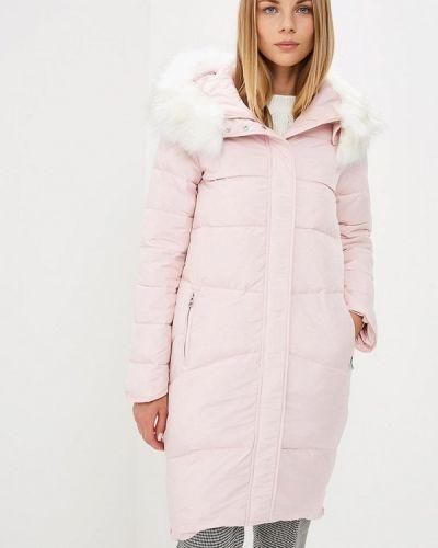 Зимняя куртка осенняя розовая Modis