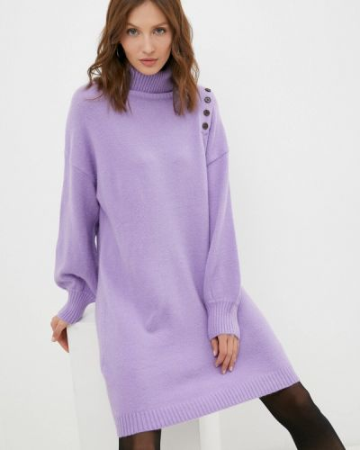 Вязаное платье - фиолетовое By Swan