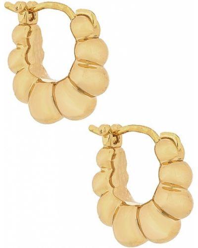 Złote kolczyki sztyfty pozłacane Loeffler Randall