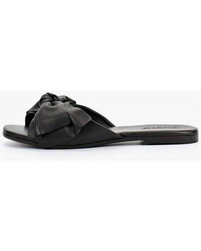 Кожаные сабо - черные Inuovo