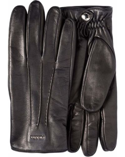 Z kaszmiru rękawiczki - czarne Prada