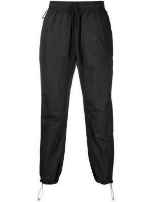 Czarne lniane lniane spodnie Soulland